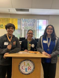 LACER Word Wizard Tournament 2019 Winners